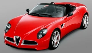 Illustration for article titled Alfa Romeo 8C Competizione Spider Set for 2009 Launch