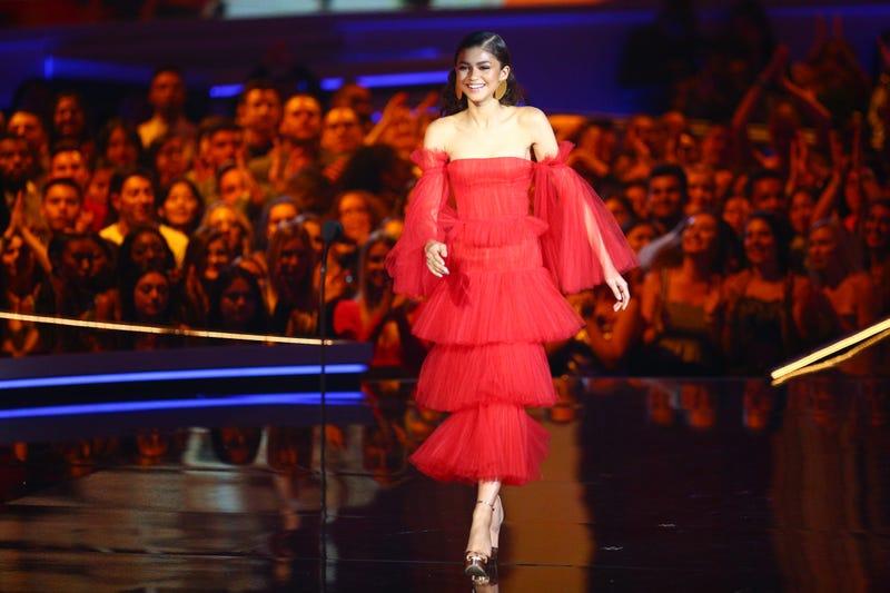 Zendaya walks onstage during the 2018 MTV Movie And TV Awards at Barker Hangar on June 16, 2018 in Santa Monica, California.