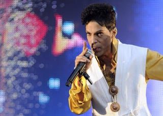 Prince performing at the Stade de France in Saint-Denis, outside Paris, on June 30, 2011BERTRAND GUAY/AFP/Getty Images