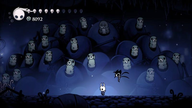 No objections to this scene in Hollow Knight. The part of the game that riled me would be a spoiler, so I'm not showing it.