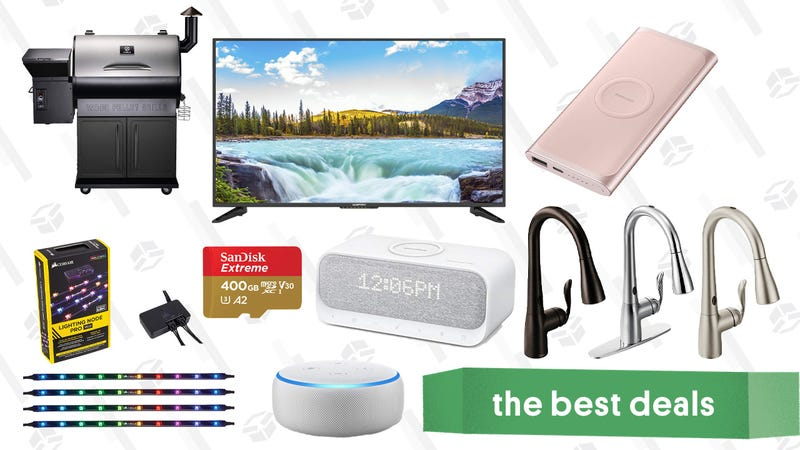 Illustration for article titled Wednesday's Best Deals: Discounted Audible Membership, Pellet Grill, Moen Kitchen Faucets, and More