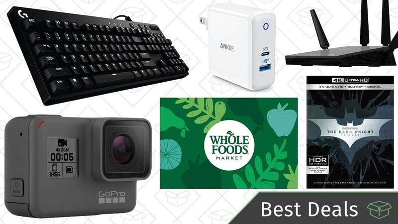 Illustration for article titled Monday's Best Deals: Amazon Tech Sale, USB-C Chargers, Whole Foods, and More