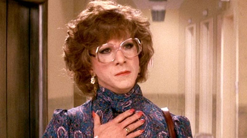 Illustration for article titled The classic cross-dressing farce Tootsie tackles gender roles on-screen and off
