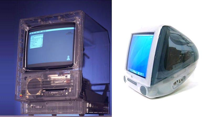 Illustration for article titled Transparent Mac SE/20 vs iMac Graphite
