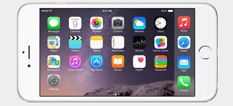 Illustration for article titled iPhone 6 Plus: así es el nuevo (y enorme) iPhone de 5,5 pulgadas