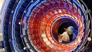 Illustration for article titled The Higgs Boson Is Still Missing, But The LHC Just Found Its First New Particle