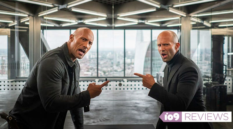 The bickering between Hobbs (Dwayne Johnson) and Shaw (Jason Statham) is basically all of Hobbs & Shaw.