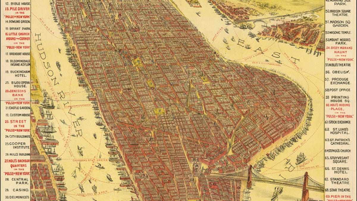 Map Of New York New York Casino.11 Bird S Eye Views That Show How Nyc Has Grown Over 350 Years