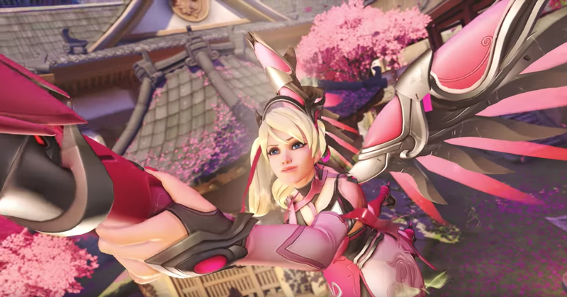 Illustration for article titled Overwatch Fans React To The New Pink Mercy Skin