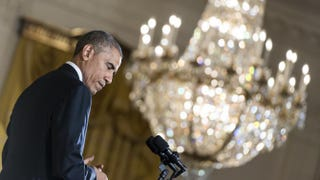 President Barack Obama during a news conference in the East Room of the White House Nov. 5, 2014, a day after Democrats lost the U.S. Senate majorityMark Wilson/Getty Images