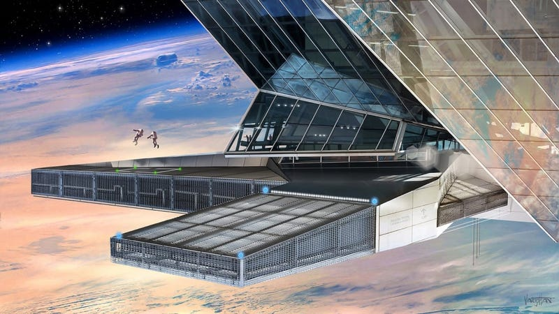 Concept art for the Space Kingdom of Asgardia's Earth-orbiting station.