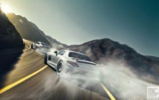 Illustration for article titled Porsche 991 GT3 vs Mercedes SLS AMG Black