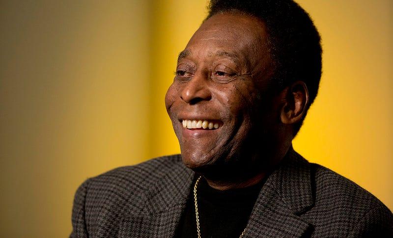 Pelé está contento. Foto: AP