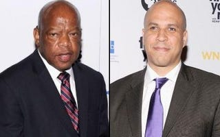 Rep. John Lewis (Getty Images); Mayor Cory Booker (Getty Images)