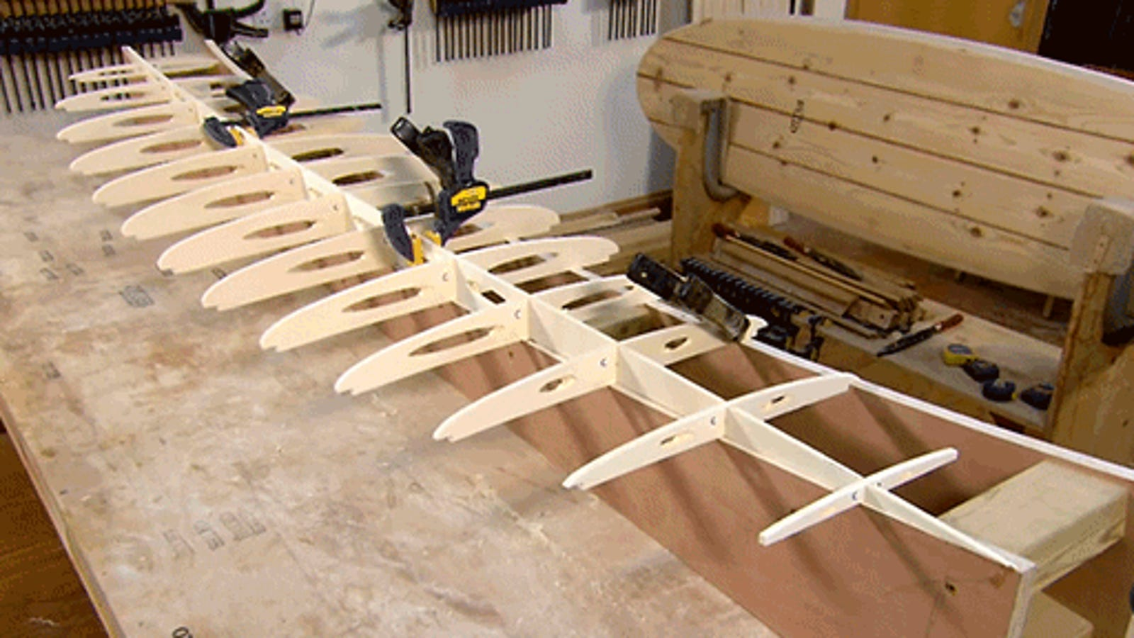 Making a Hollow Wooden Surfboard Looks Like It's Totally Worth It
