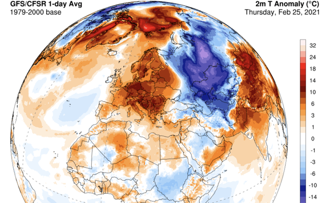 Unseasonable European Warmth Smashes All-Time February Temperature Records