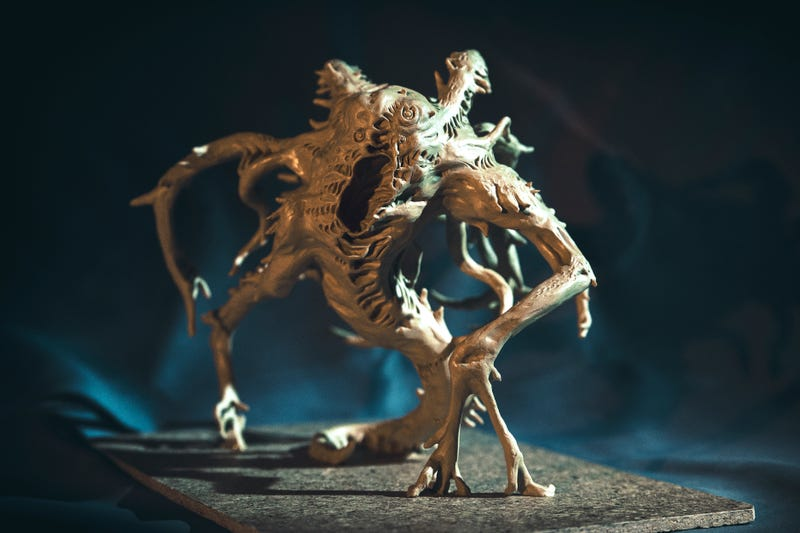 Illustration for article titled Lovecraftian Terror, Sculpted For A Video Game