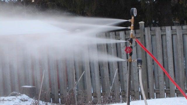 This Diy Snow Machine Provides Fresh Powder In The