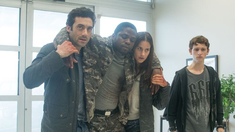 Morgan Spector, Okezie Morro, Danica Curcic, Russell Posner (Photo: Spike TV)