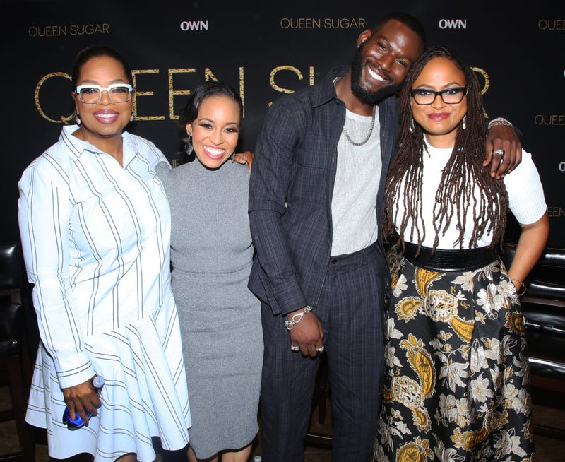 Oprah Winfrey, Dawn-Lyen Gardner, Kofi Siriboe and Ava DuVernay (Mark Davis/courtesy of OWN)