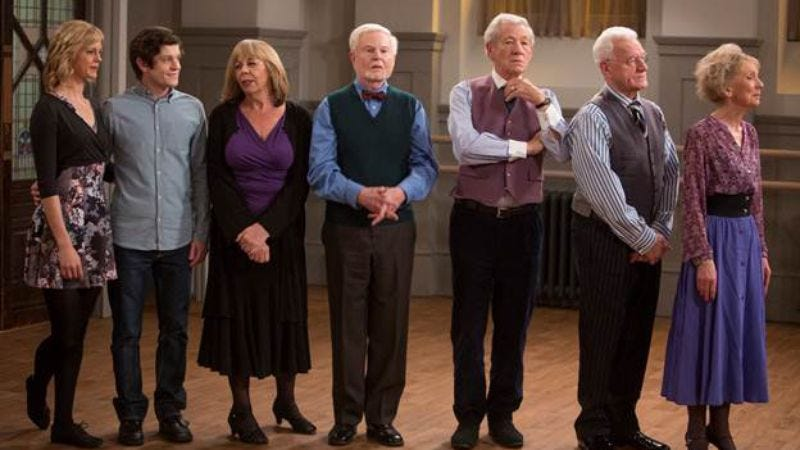 The cast of Vicious (ITV)