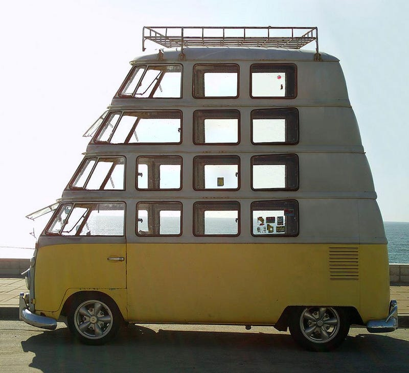 Illustration for article titled Here's That Skyscraper Microbus You Wanted