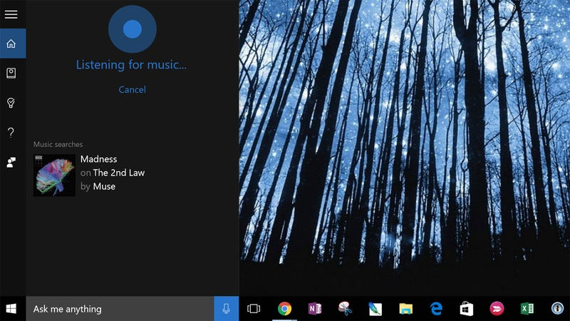 Cortana says ask me anything so why not ask her what song is