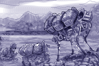 Illustration for article titled This Robot Dog's Ugly is Only Skin Deep