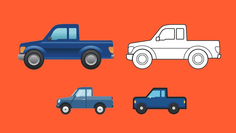 Illustration for article titled Ford Secretly Created the New Pickup Truck Emoji Because Nothing Is Sacred