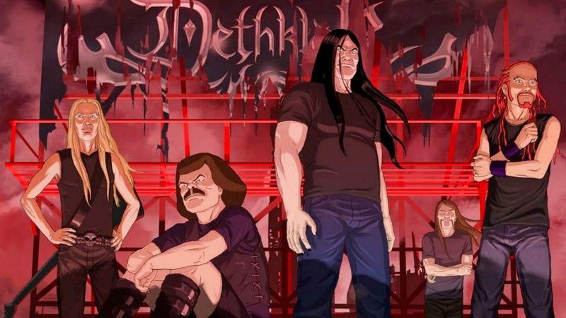 """Illustration for article titled Metalocalypse: """"Breakup Klok"""""""