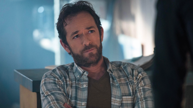 Luke Perry as Fred Andrews on Riverdale.