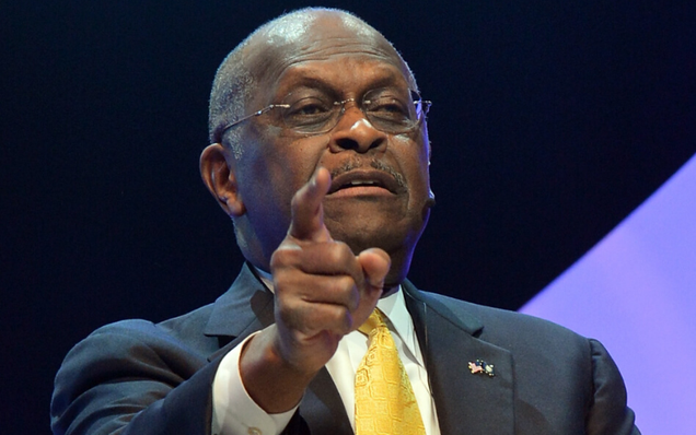 Herman Cain Hospitalized With COVID-19 After Posting Up at Trump Rally Without a Mask
