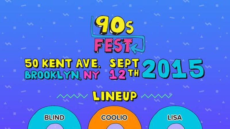 Illustration for article titled Horrible sounding 90sFest to help Williamsburg reach peak irony this fall
