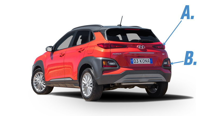 Illustration for article titled I Need to Know How We Feel About the Hyundai Kona's Taillight Setup