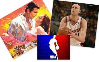 Illustration for article titled NBA Playoffs + Unrelated Movie = Genius