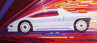 Illustration for article titled Meet The Peugeot Quasar: A Group B Supercar For The Road