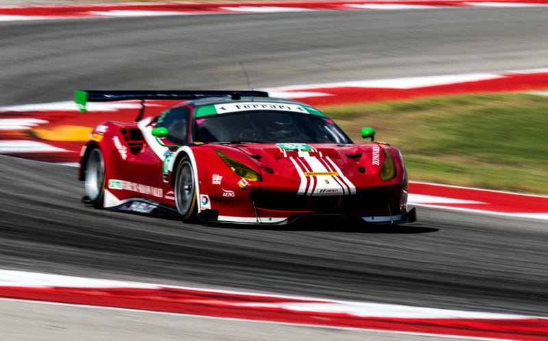 Nielsen's No. 63 Scuderia Corsa Ferrari car. Photo credit: Kurt Bradley