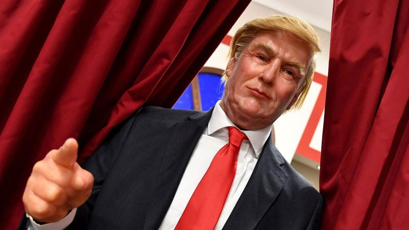 A wax statue of Donald Trump in Rome. (Photo: ALBERTO PIZZOLI/AFP/Getty Images)