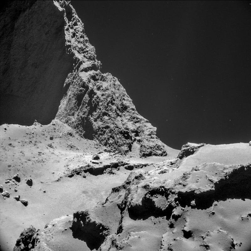 Illustration for article titled La sonda Rosetta descubre que el cometa 67P apesta