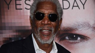 Morgan Freeman poses on arrival for the Los Angeles premiere of 'Transcendence' on April 10, 2014, in Los Angeles. FREDERIC J. BROWN/AFP/Getty Images
