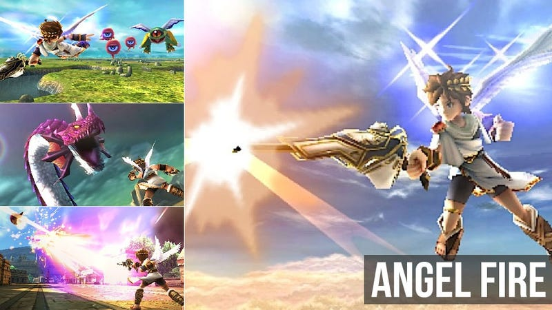Illustration for article titled Kid Icarus: Uprising is a Gaudy, Goofy, Surprisingly Hardcore Shoot-'Em-Up