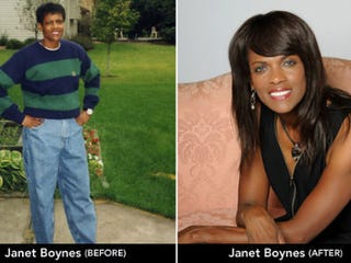 Janet Boynes, before and after (Slate)
