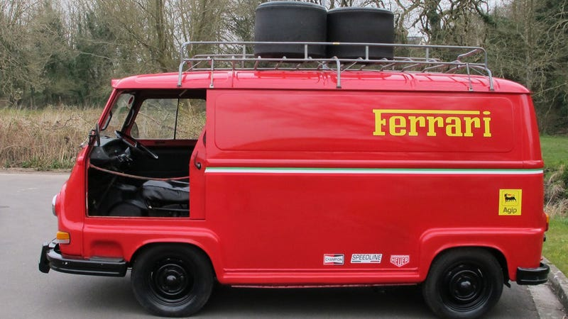 Illustration for article titled Niki Lauda's Ferrari Van From Rush Is Up For Grabs