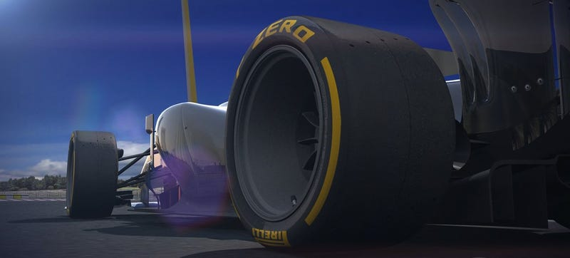 Illustration for article titled F1 Finally Testing Normal-Sized Wheels