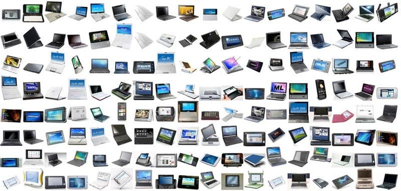 Illustration for article titled Every Netbook In One Big Obnoxious Picture