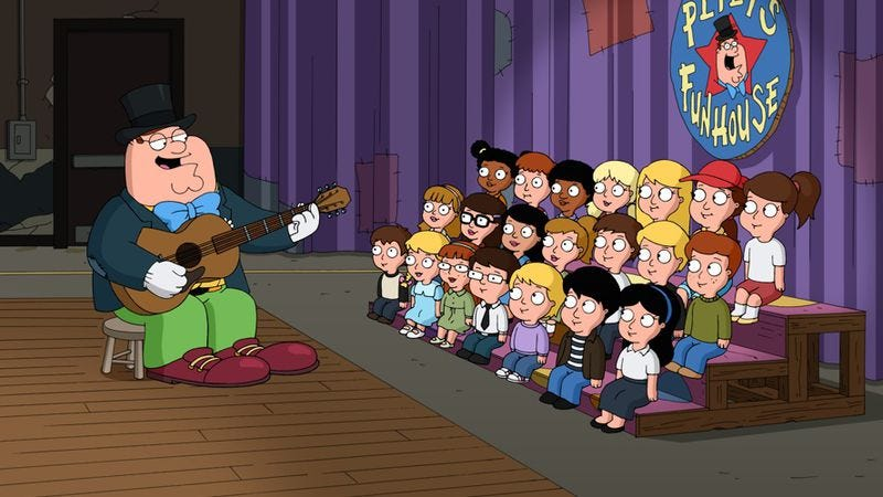 "Illustration for article titled Family Guy: ""You Can't Do That On Television, Peter"""