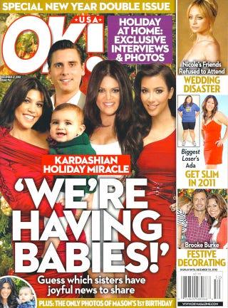 Illustration for article titled This Week In Tabloids: The Kreepy, Krazy-Eyed Kardashian Khristmas Kard