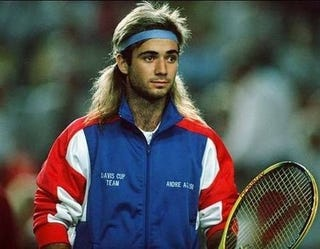 Illustration for article titled Who Cares About The Meth Stuff, Agassi Wore A Wig?