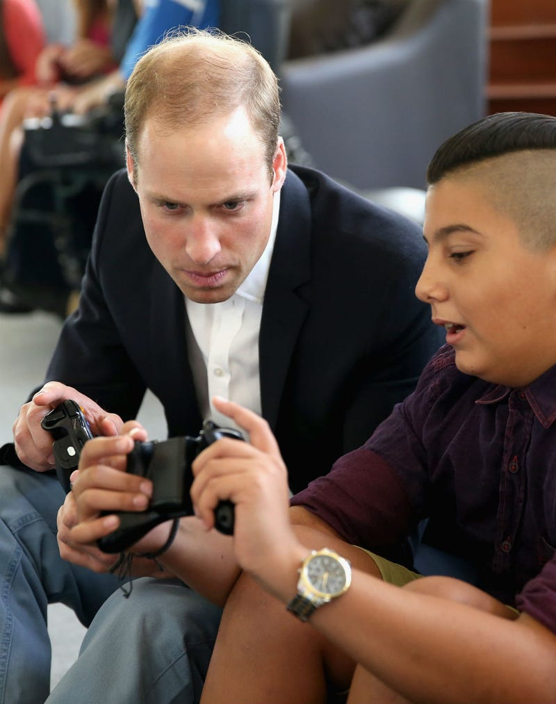 Illustration for article titled Caption This Photo of Prince William's Super Intense Gamer Face
