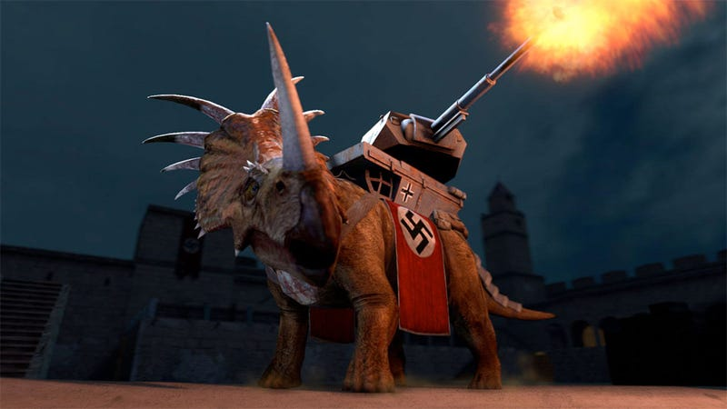 Illustration for article titled Nazi Dinosaur Battles Finally A Reality When Dino D-Day Deploys In April